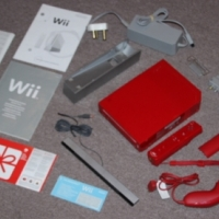 Nintendo Wii console, limited red edition