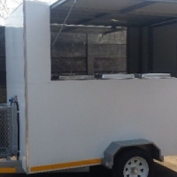 Standard mobile kitchen trailers for sale.