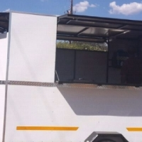 Newly built fully equipped mobile kitchen trailers for sale.