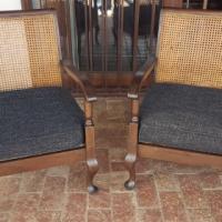 Pair Victorian Queen Anne Chairs