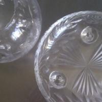 Rose crystal/cut glass set