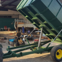 HYDRAULIC TIPPER TRAILER 5 TON OR 3 TON WITH AUTO OPENING   REAR TAILGATE
