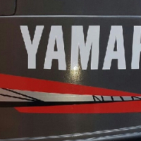 Yamaha 40HP outboard motor decals stickers graphics kits