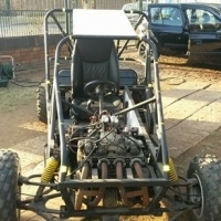 Pipecar with 500cc motorbike