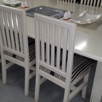 Large dining/ patio table and chairs