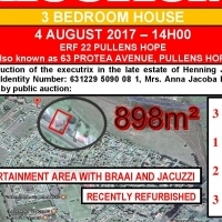3 Bedroom House on Auction - 4 August 2017 at 14h00 - Pullens Hope