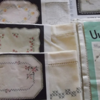 EMBROIDERY PRINTED SETS ON IRISH LINEN