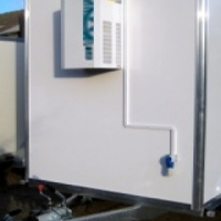 Refrigerated trailers/mobile freezers for sale.