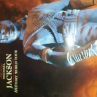 Michael Jackson History concert program from 1990's concert
