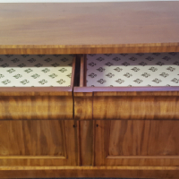 Antique walnut sideboard / server