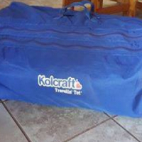 1 x Blue Camping cot with mattress