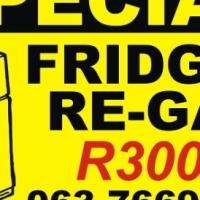 Fridge Regas Special R300   No Call Out Fee   Repairs
