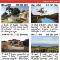 Houses in and around Ballito, KZN, Ballito