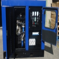 Silent diesel engine generators with ATS for sale.