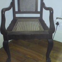 Antique Imbuia carver chair
