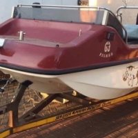 arrow head boat + 60hp strong motor