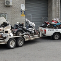 Transporting motorcycles door to door all over SA and Namibia