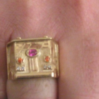 custom gold truck ring