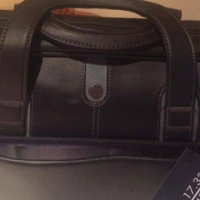 "HP 17"" Genuine Leather Carry Bag"