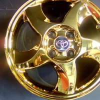 7.5 J 4/100 pcd Gold Chrome Toyota RXI wheels brand new for sale now only R6000