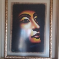 4 x Egyptian Papyrus Paintings in attractive frames