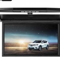 15.6-Inch Roof Monitor - 2x Speaker, 32GB SD Card Slot, 32GB USB Port, 1080p FHD, Remote Control, FM