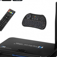 T99 Android TV Box - 4K, Android 7.1, Quad Core CPU, Kodi 16.1, Miracast, Wireless QWERTY Keyboard