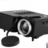 Mini HD Projector - Built-In Speaker, 500 Lumen, 1080p Support, 60-Inch Image Size, Light Weight, AV