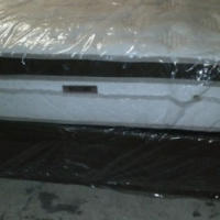 New Restonic Queen Size Eurotop Base and Mattress Set