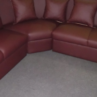 Brand New Pleather Corner Couch
