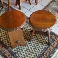 2 x Imbuia Milkmaid stools for R600