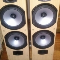 2 x floorstanding Monitor Audio Bronze B4 series speakers