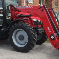 massey ferguson 5712 sl 4wd tractor + loader