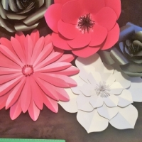 Large paper flowers for weddings, birthday parties, bachelorette and nursery wall decor