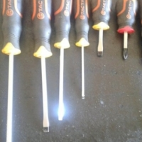 Two sets of screwdrivers
