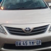 2012 Toyota corolla 1.3 for R 119,000