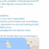 Holiday units for rent CPT Bloubergstrand