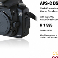 Canon EOS 20D 8MP APS-C DSLR Camera