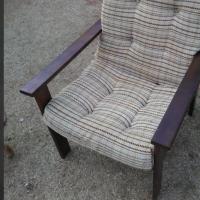 Antique wooden garden chair