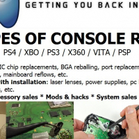 Video game console repairs & mods - Playstation & Xbox - PS4, XBOX ONE, PS3, XBOX 360, PS2, PSP