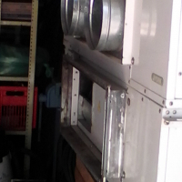 Air conditioning hideaway units.60,000 BTU capacity each. R22 refrigerant.