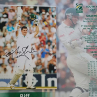 *GRAEME SMITH signed stats*