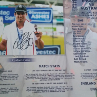 ** CAPTAIN ALASTAIR COOK ashes signed stats ** ENGLAND'S 2015 victory
