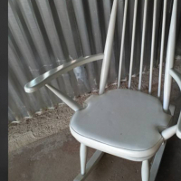 Old white rocking chair