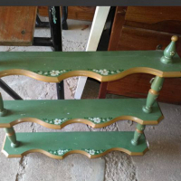 Antique green shelf