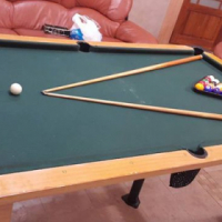 Pool table it's been used