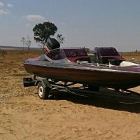 Bow rider speed boat 115hp mariner motor