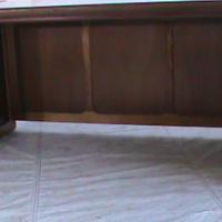 Cherry wood straight desk