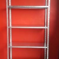 Bolt and nut  galvanised shelf 5 tier