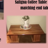 Saligna Coffee table with 6 matching side tables